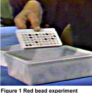 image of Dr. Deming's Red Bead Experiment