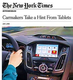 (photo of infotainment system)