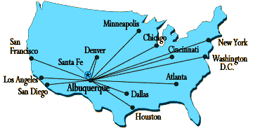 map of U.S. airports