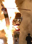 (photo - Zozobra burning)